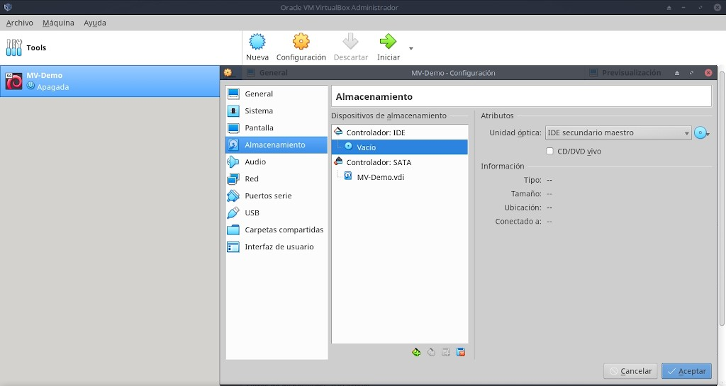 Virtualbox 6.0: Uso - Paso 5