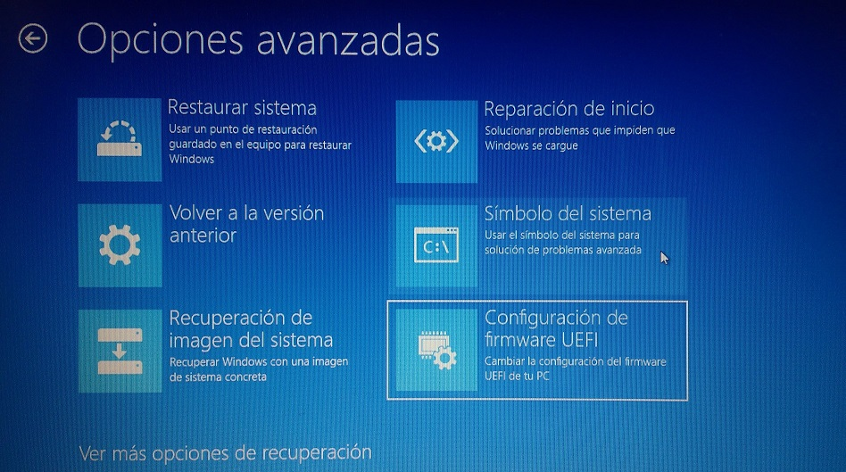 configuracion de firmware uefi