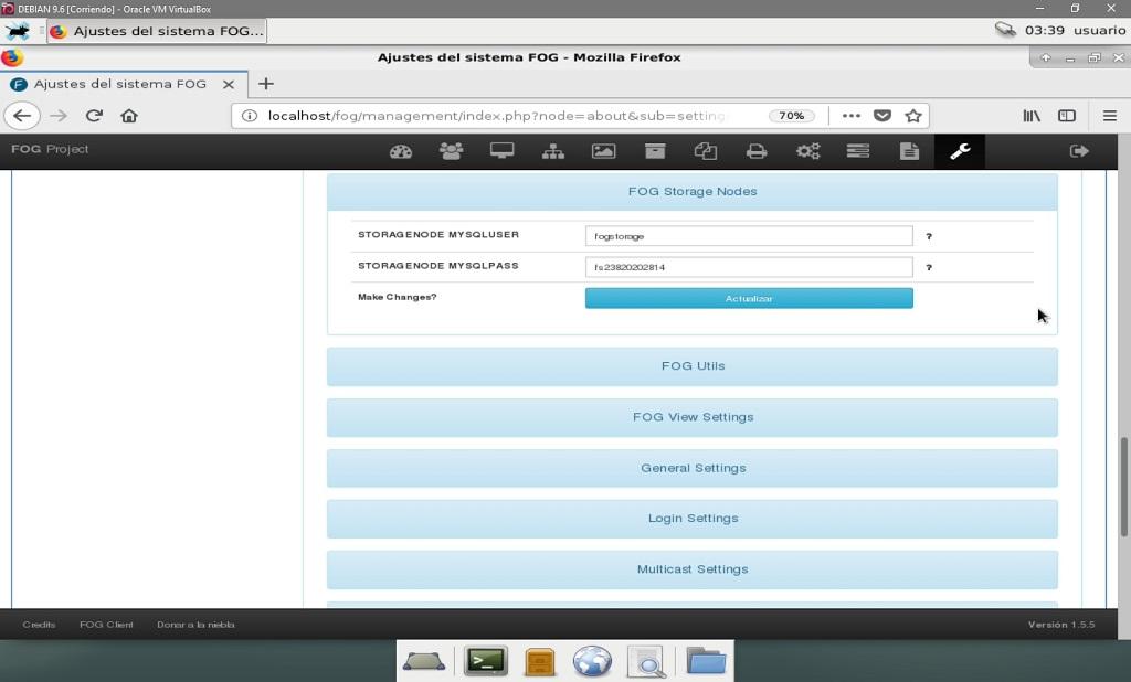 Fog Project: Configurar Nodos de Almacenamiento