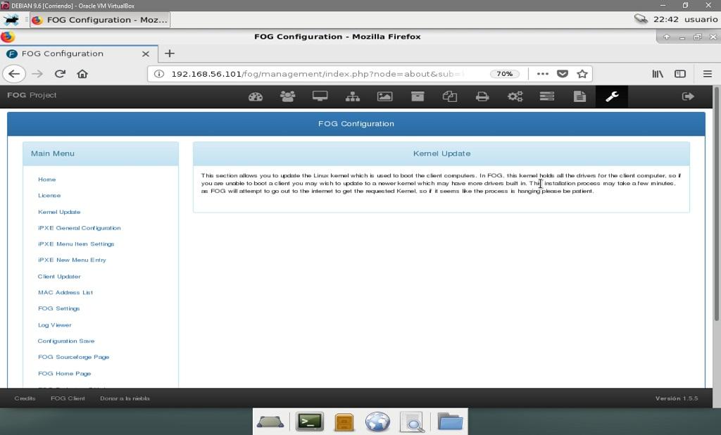 Fog Project: Configuración de Fog - Actualización del Kernel