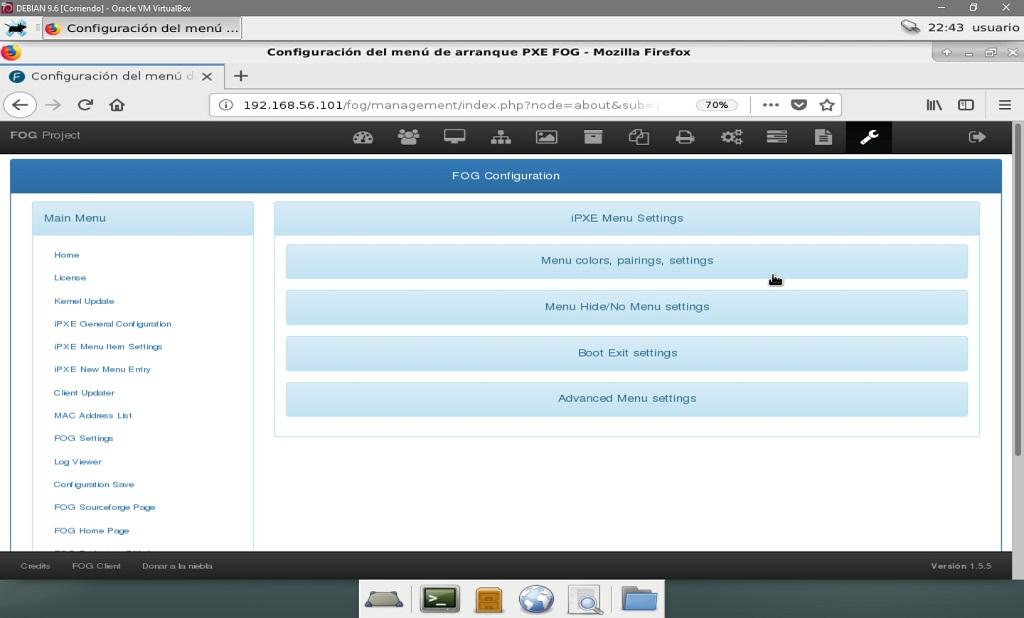 Fog Project: Configuración de Fog - Configuración General IPXE