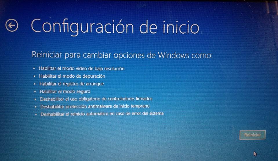habilitar modo seguro windows 10