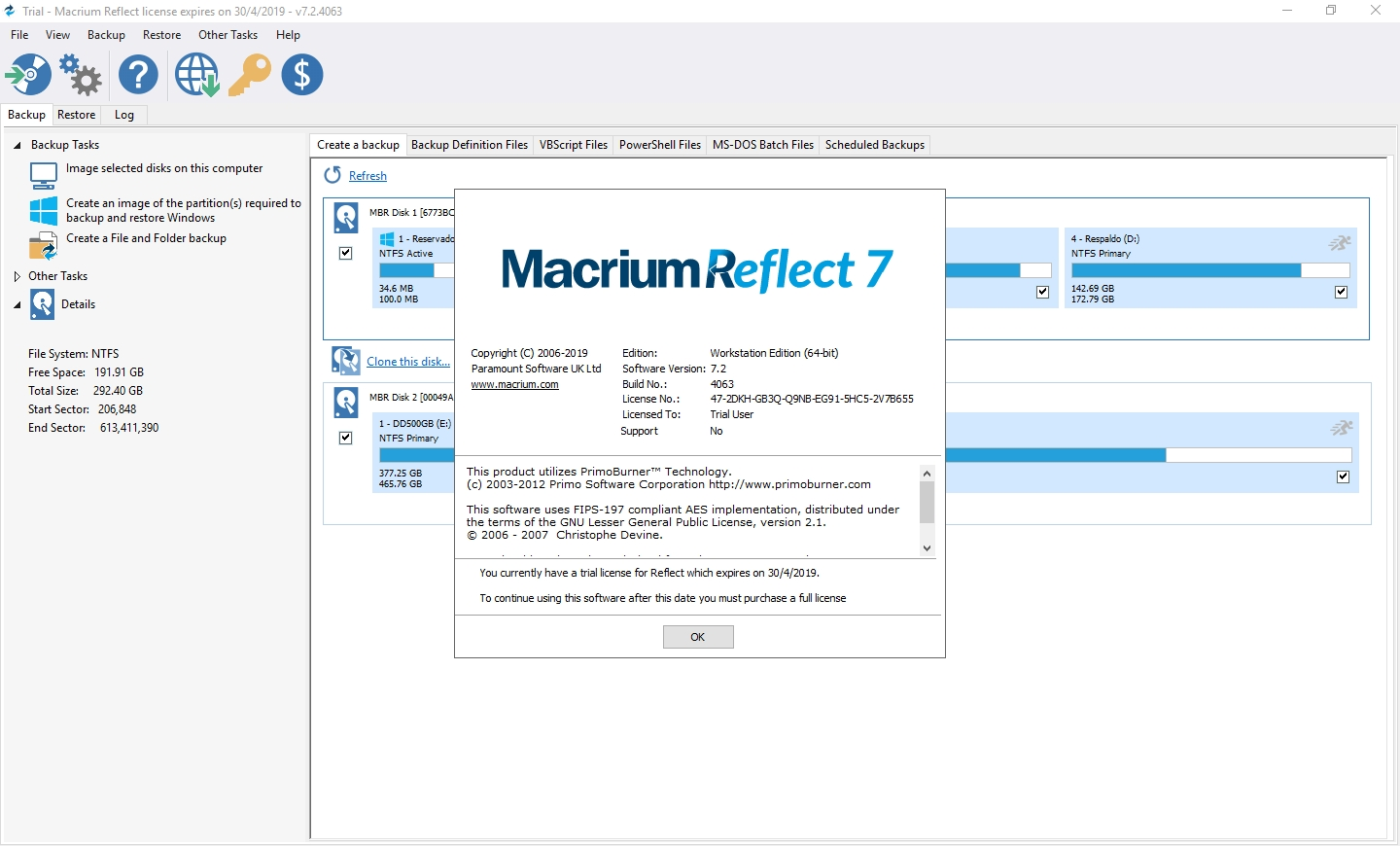 Macrium Reflect: Interface Gráfica - 42