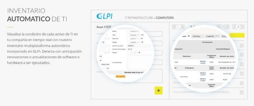 GLPI: Características - Inventario