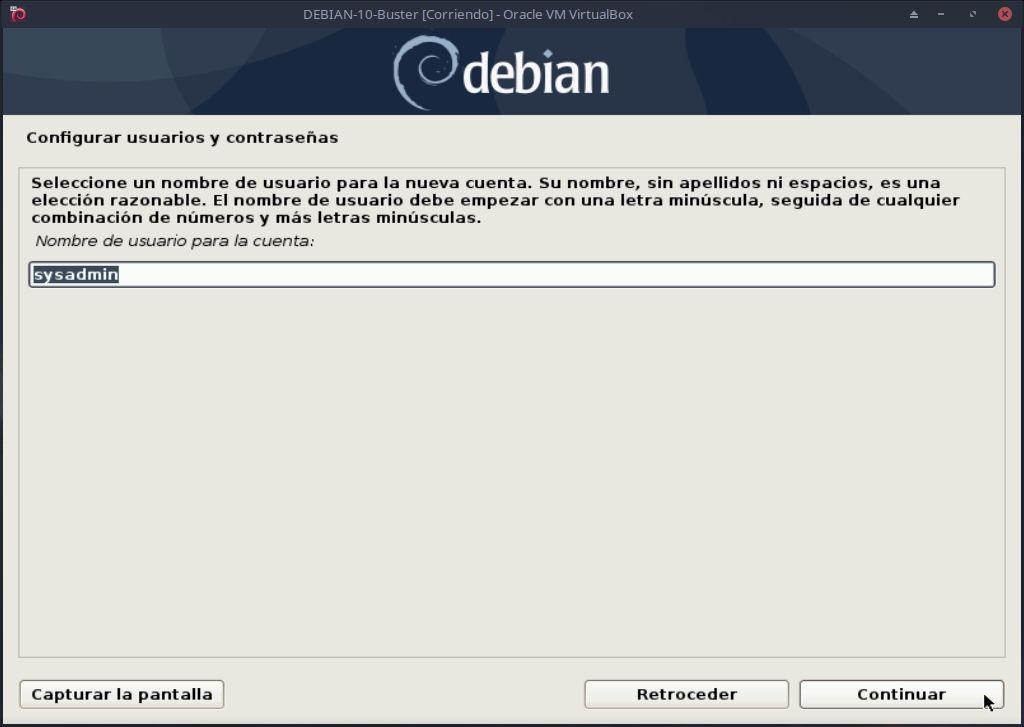 DEBIAN 10: Instalación