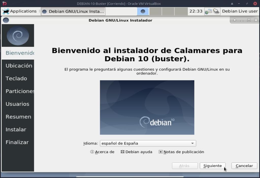 DEBIAN 10 - Buster: Instalación con Calamares