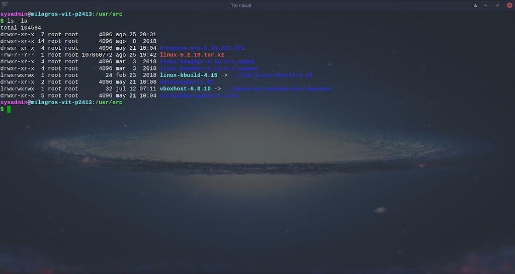 Kernel de Linux: Compilación - Paso 3.3