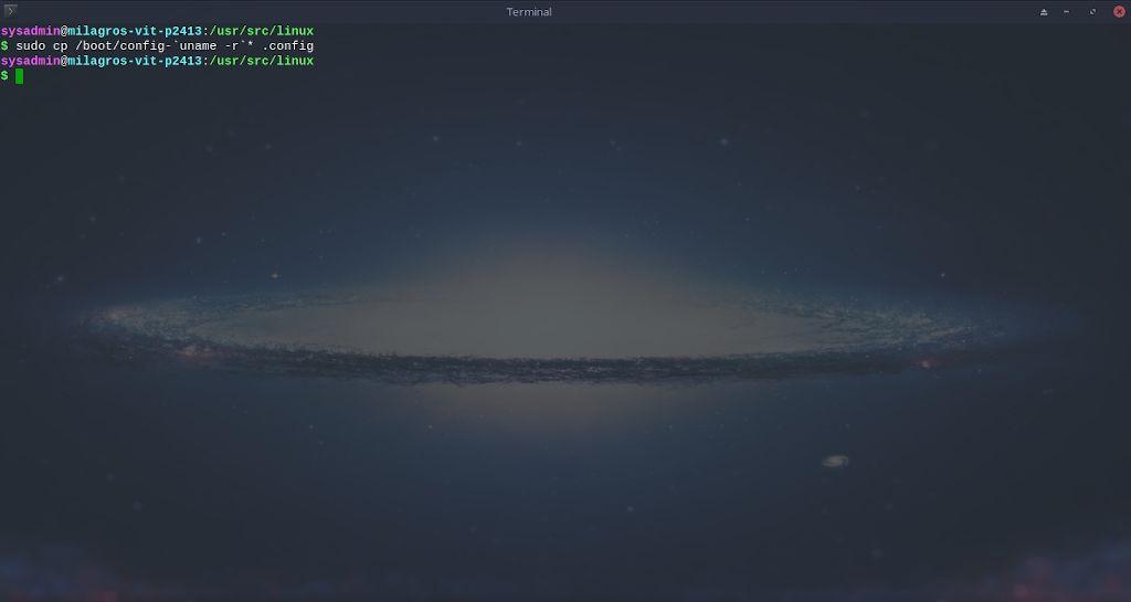 Kernel de Linux: Compilación - Paso 8