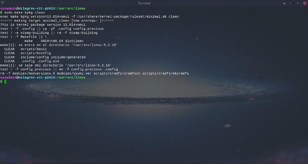 Kernel de Linux: Compilación - Paso 10.1