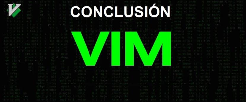 Editor de Texto VI / VIM: Conclusión