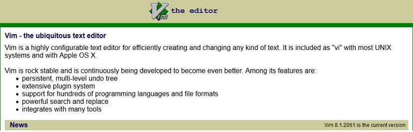 Editor de Texto VI / VIM: Vim Online