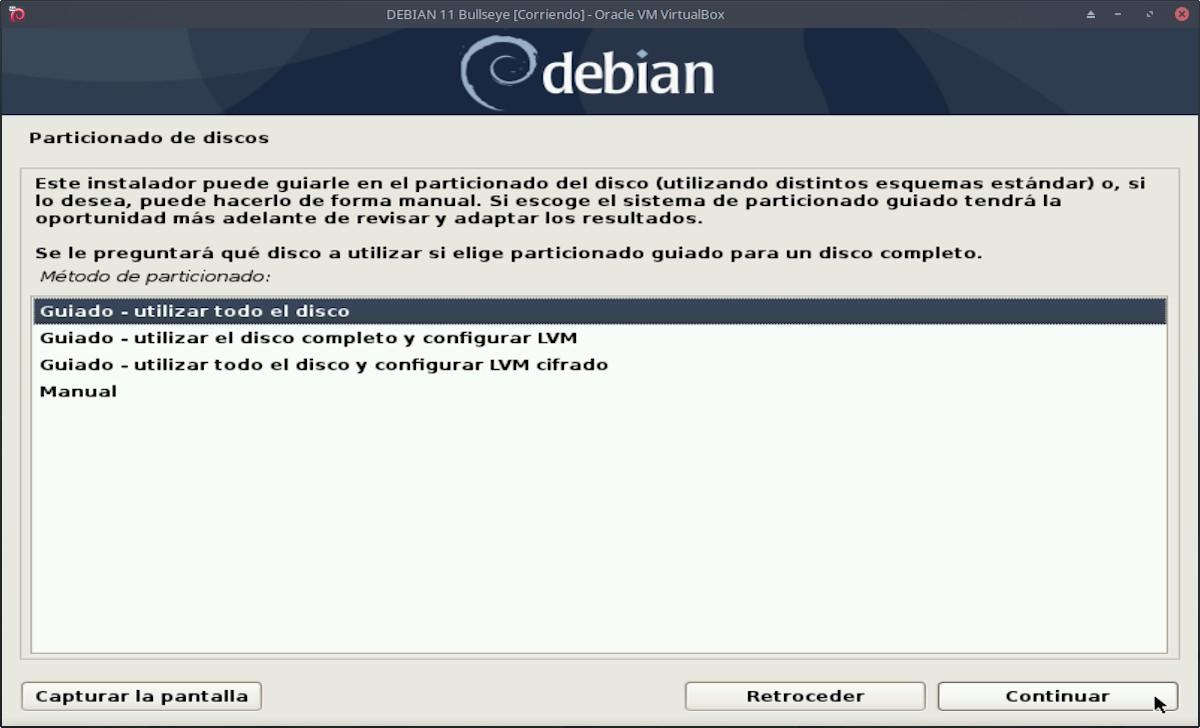 DEBIAN 11 - Bullseye: Instalación paso 9a