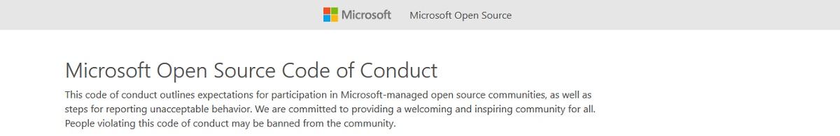 Microsoft Open Source: Código de Conducta de Código Abierto