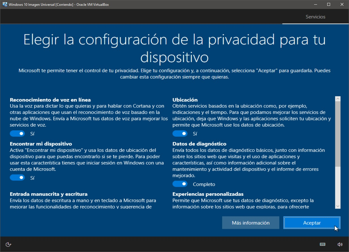 Windows 10: Instalación paso 12