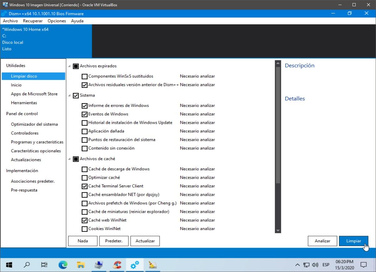 Windows 10: Limpieza - paso 1