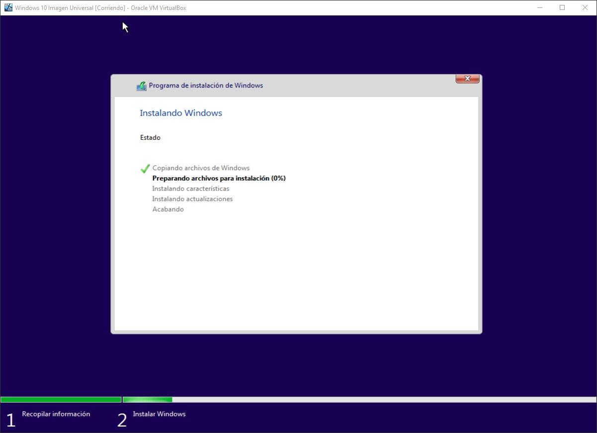 Windows 10: Instalación paso 4