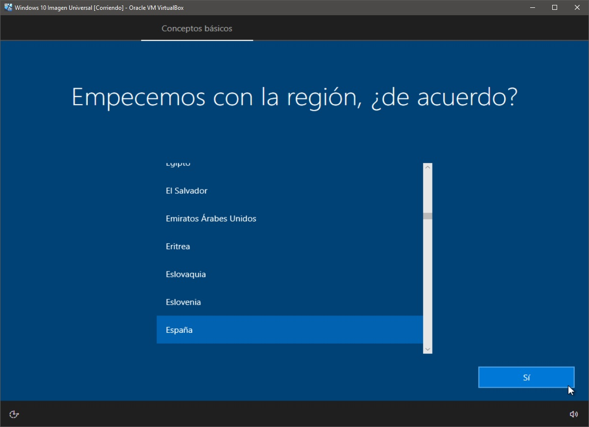 Windows 10: Instalación paso 5