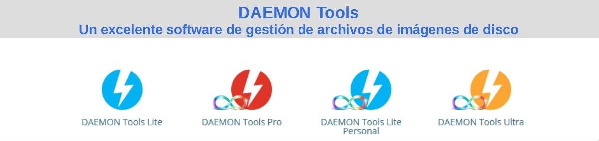 DAEMON Tools: Un excelente software de gestión de archivos de imágenes de disco